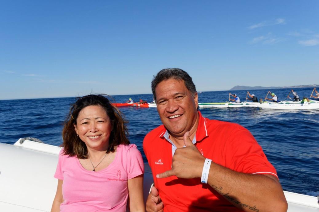 19e édition de la Porquerollaise : Caroline Tang lance le départ de la course de va'a