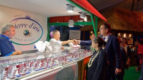 Caroline Tang assiste à l'inauguration de la Foire de Saint-Lô
